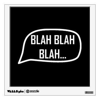 Word Bubble Blah Wall Sticker