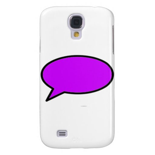 Word Bubble Left Purple The MUSEUM Zazzle Gifts Galaxy S4 Covers