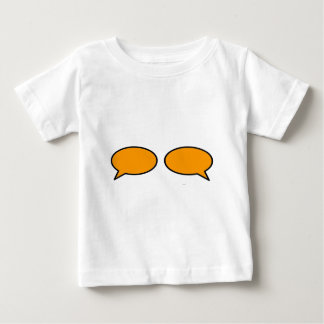 Word Bubble Left Right Orange The MUSEUM Zazzle Gi Baby T-Shirt