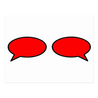 Word Bubble Left Right Red The MUSEUM Zazzle Gifts Postcard