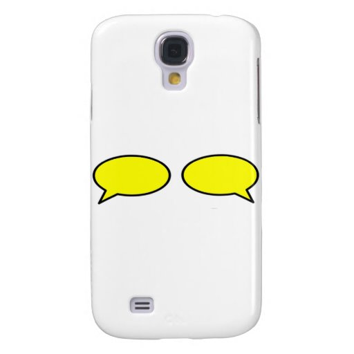 Word Bubble Left Right Yellow The MUSEUM Zazzle Gi Samsung Galaxy S4 Case