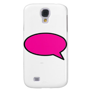 Word Bubble Right Magenta The MUSEUM Zazzle Gifts Samsung Galaxy S4 Cover