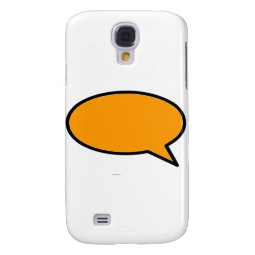 Word Bubble Right Orange The MUSEUM Zazzle Gifts Galaxy S4 Covers