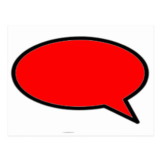 Word Bubble Right Red The MUSEUM Zazzle Gifts Postcard