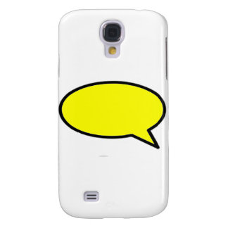 Word Bubble Right Yellow The MUSEUM Zazzle Gifts Samsung Galaxy S4 Cover