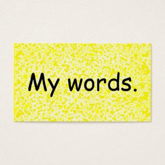 Word card - spelling resource