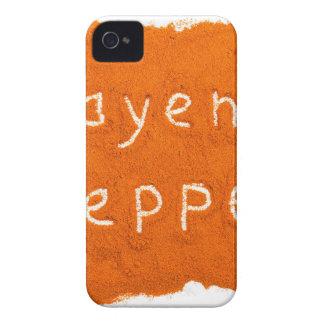 Word Cayenne pepper written in powder iPhone 4 Case-Mate Case