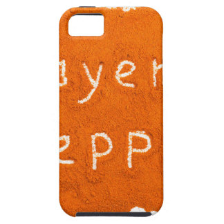 Word Cayenne pepper written in powder iPhone SE/5/5s Case
