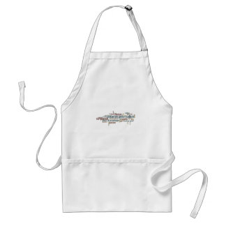 Word Cloud 2 Adult Apron