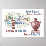 Word Cloud Deconstruction of John Keats Poem Posters