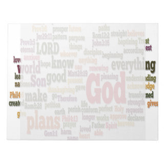 Word Cloud for Top 10 Bible Verses Notepad