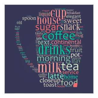 Word cloud illustration related to coffee fotografías