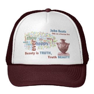 Word Cloud of John Keats' Ode on a Grecian Urn Trucker Hat