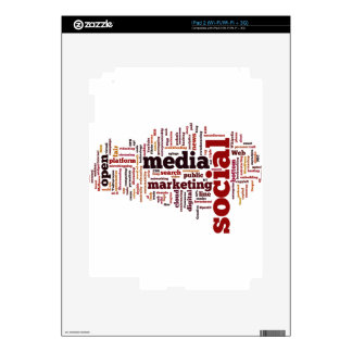 word-cloud Social Media Text iPad 2 Decal
