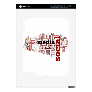 word-cloud Social Media Text iPad 3 Decal