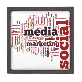 word-cloud Social Media Text Jewelry Box