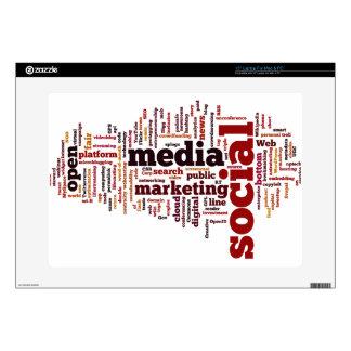 word-cloud Social Media Text Laptop Decals