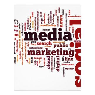 word-cloud Social Media Text Letterhead