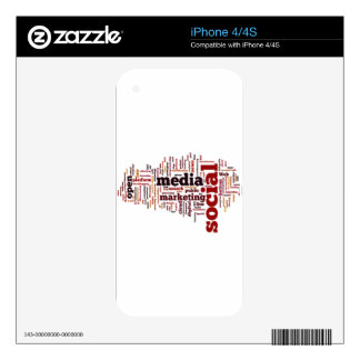 word-cloud Social Media Text Skins For iPhone 4