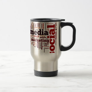 word-cloud Social Media Text Travel Mug