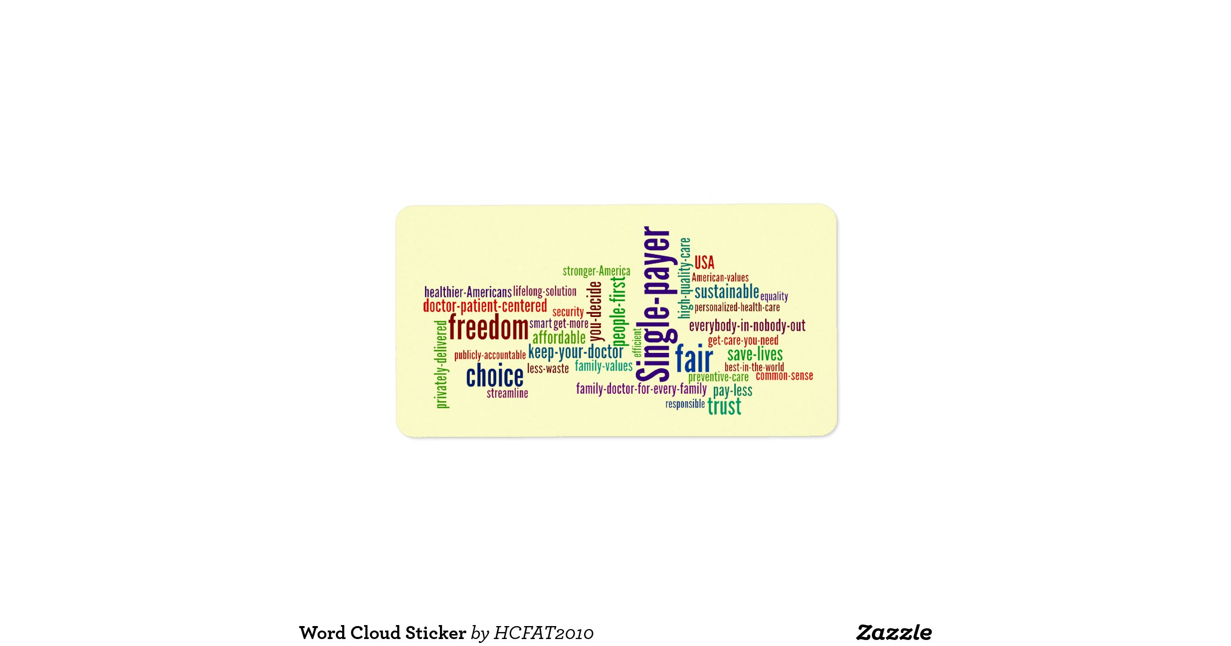 word cloud sticker address label zazzle