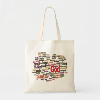 Word Cloud Top 10 Bible Verses Tote Bag