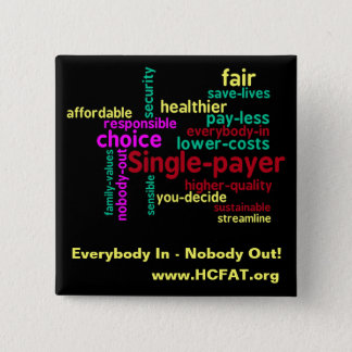Word Cloud Universal Health Care Pin