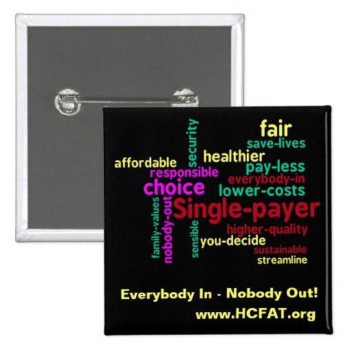 Word Cloud Universal Health Care Pin