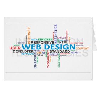 word cloud web design card