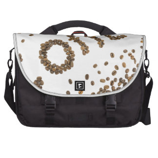 Word coffee made of coffee beans commuter bags