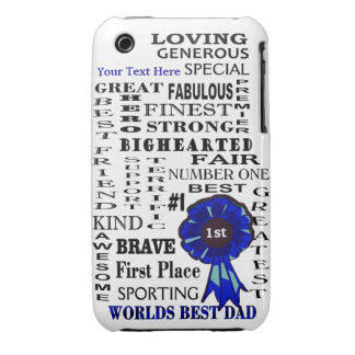 Word Collage Fathers Day 3G/3GS Barely There Case