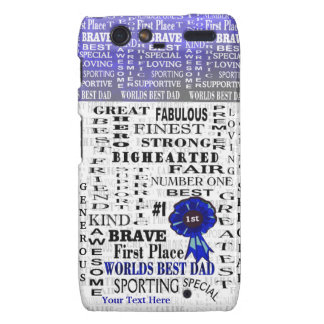 Word Collage Fathers Day Droid RAZR Barely There Droid RAZR Cover