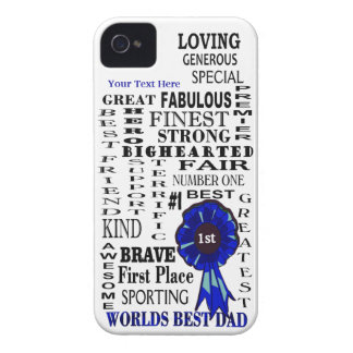 Word Collage Fathers Day iPhone 4/4S Barely There iPhone 4 Case-Mate Cases
