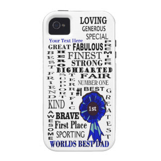 Word Collage Fathers Day iPhone 4/4S Vibe Case Case-Mate iPhone 4 Covers