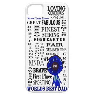Word Collage Fathers Day iPhone 5 Barely There iPhone SE/5/5s Case