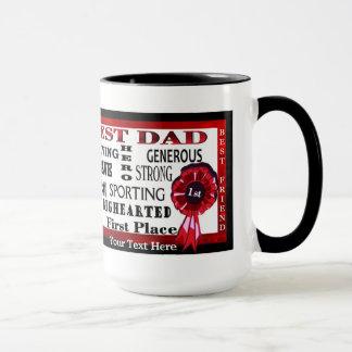 Word Collage Worlds Best Dad Red Ribbon Coffee Mug