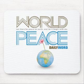 """WORD® DIARIO """"paz de mundo"""" Mousepad"""