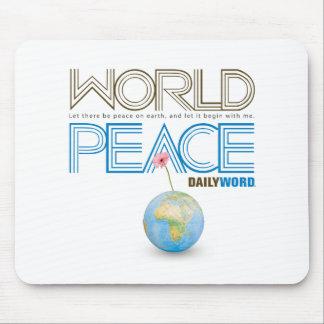 """WORD® DIARIO """"paz de mundo"""" Alfombrilla De Ratones"""