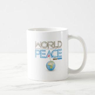 """WORD® DIARIO """"paz de mundo"""" Tazas"""
