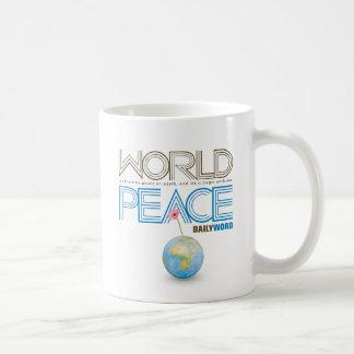 """WORD® DIARIO """"paz de mundo"""" Taza"""