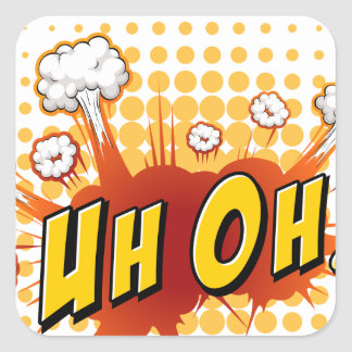 Word expression square sticker