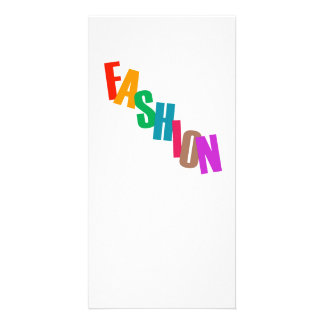 Word fashion in colorful letters card
