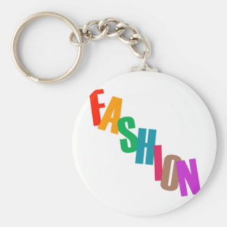 Word fashion in colorful letters keychain