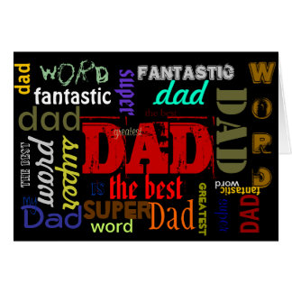 WORD!!! Father's Day Message(s) Card