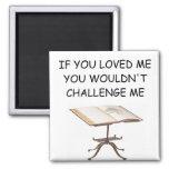 word game joke 2 inch square magnet