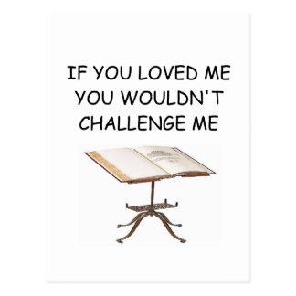 word game joke postcard