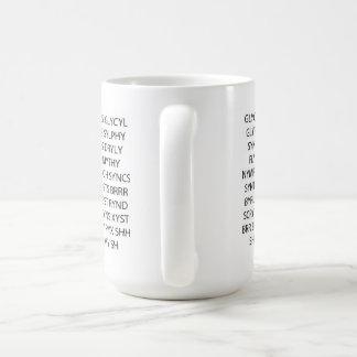 "Word Game Mug ""Lots of Consonants"""