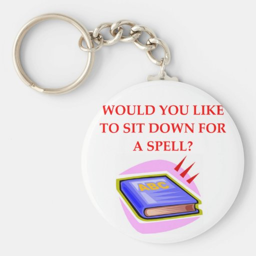 word game pun keychain