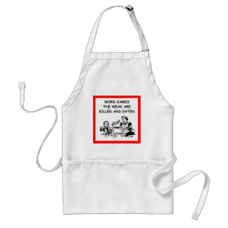 word games aprons