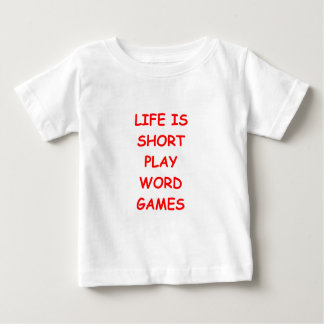 word games baby T-Shirt